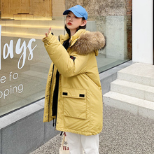Winter Jacket Women Warm Down Jacket Female Parkas Artificial Fur Collar Plus Size XL Long Jacket Mujer Hooded Parkas цены онлайн