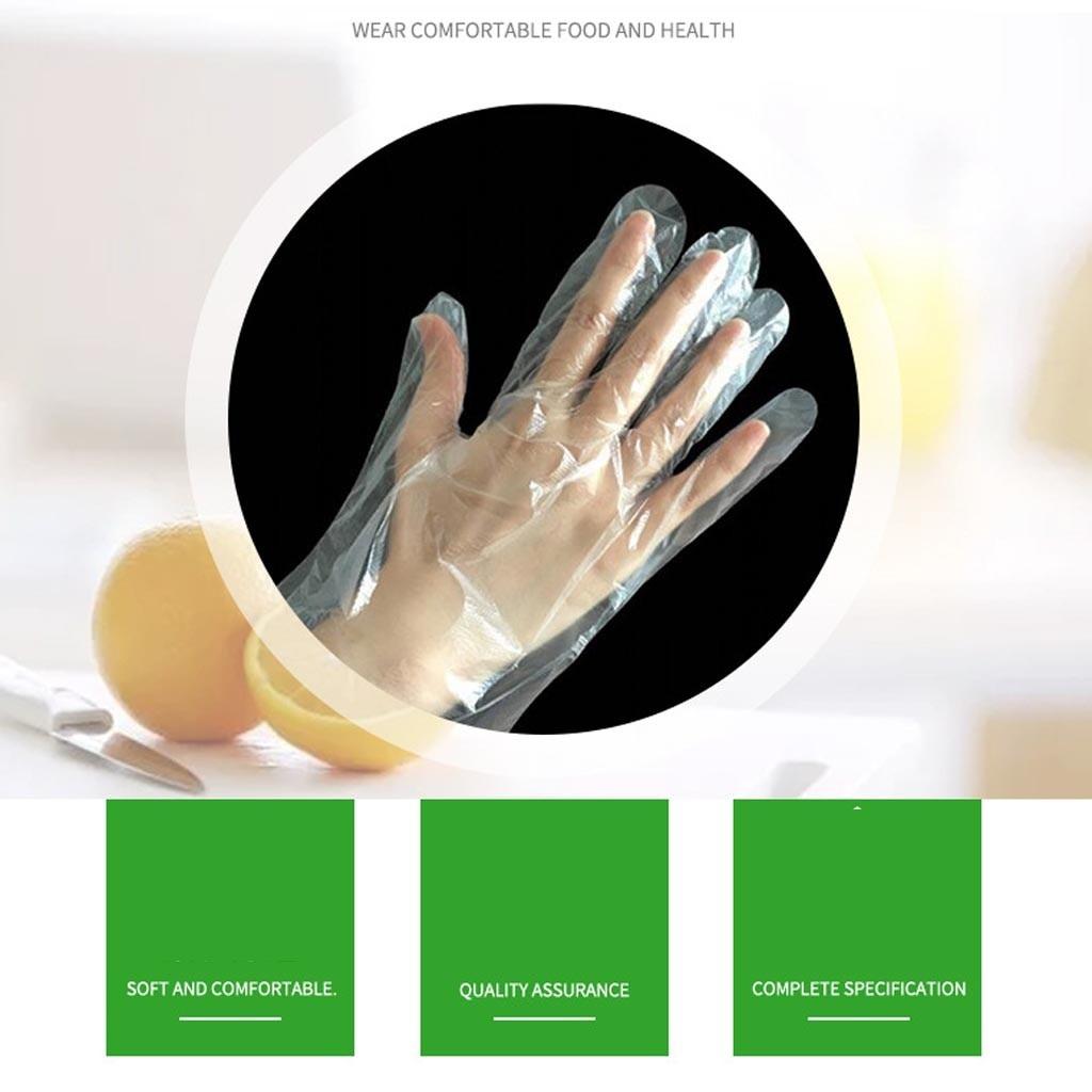 100PCS/Set Food Plastic Gloves Disposable Gloves For Restaurant Kitchen BBQ Eco-friendly Food Gloves Fruit Vegetable Gloves
