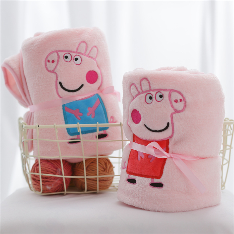 Peppa Pig Girl Cartoon Blanket George Character Animation Action Figure Child Siesta Skin Air Conditioning Blanket Home Supplies
