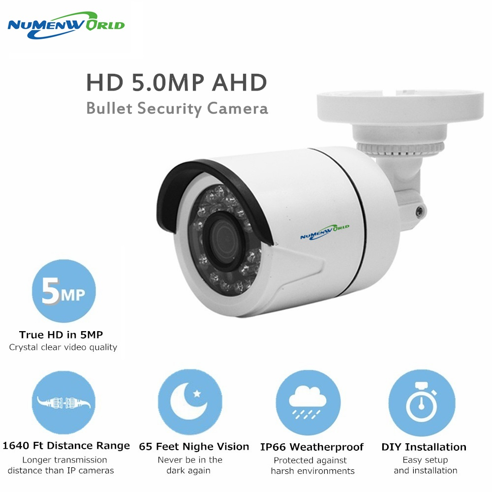 Mini AHD Camera Surveillance Infrared Camera 1080P 2.0MP/5MP AHD CCTV Camera Security Outdoor Bullet Cameras