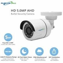 Mini caméra de Surveillance à infrarouge AHD 1080P, 2.0mp/5MP, dispositif de sécurité Bullet extérieur