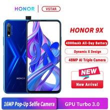 هاتف ذكي honor 9X أصلي بشاشة كاملة 6.59 بوصة وذاكرة وصول عشوائي 6 جيجابايت وذاكرة قراءة فقط 64 جيجابايت ومعالج كيرين 810 ثماني النواة وكاميرا أمامية بدقة 16 ميجابكسل