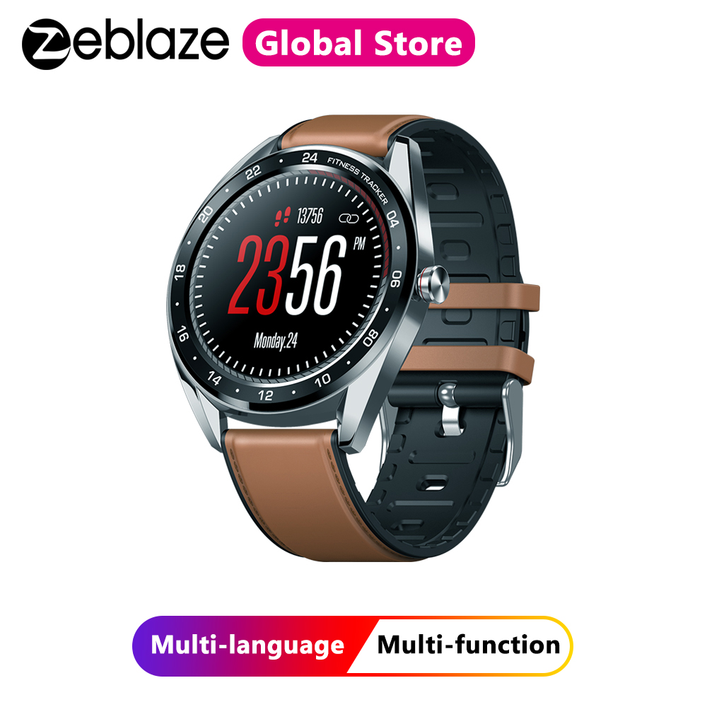 Zeblaze NEO Color Touch Display Smartwatch Heart Rate Blood Pressure Monitor Female Health CountDown Call Reject Smart Watch image