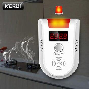 KERUI-Detector de GAS GLP GD13, inalámbrico, Digital, pantalla LED, Detector de fugas naturales de Gas Combustible para sistema de alarma de casa