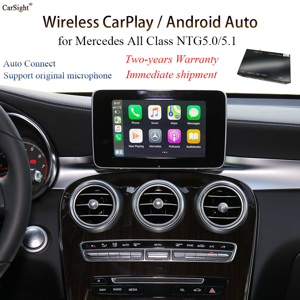 2020 <font><b>Android</b></font> Auto Solution CarPlay Module for Mercedes-benz B-W246 V-<font><b>W447</b></font> Car Play Phone Charge Music Map App image