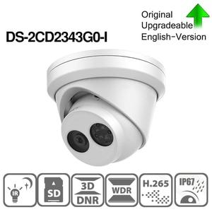 Image 3 - Pre ขายHIKVISION DS 2CD2343G0 I 4MPคงที่IR Turretเครือข่ายMINI Dome IPกล้องH.265 ช่องเสียบการ์ดSD Face DETECT 10 ชิ้น/ล็อต