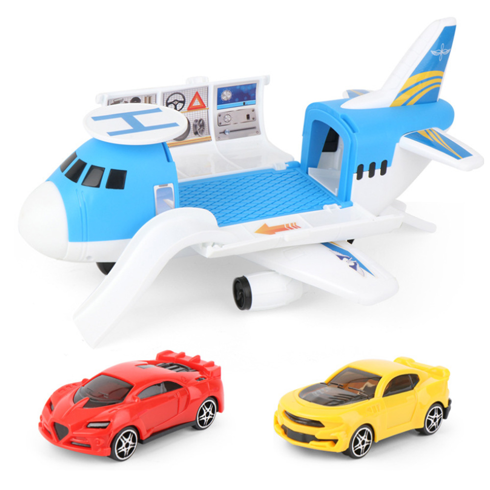 Aircraft Mold Set Parent-child Interactive Toy Storage Transport Airplane Track Inertia Car Model For Boys Gift