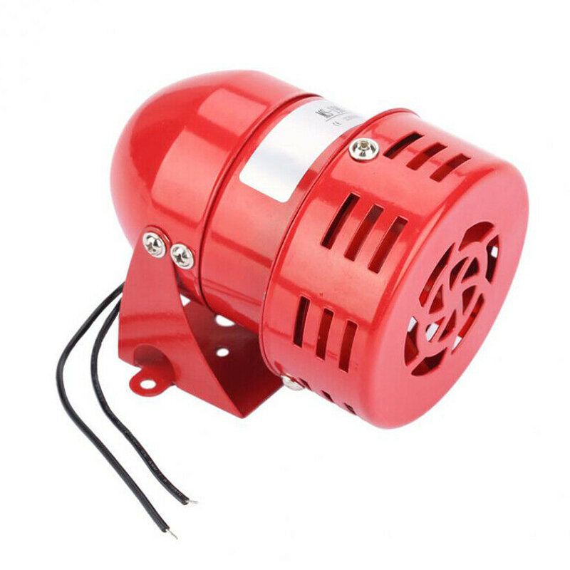MS-190 AC 220V Red Mini High Decibel Sound Buzzer Wind Motor Siren Motor Alarm For Security & Protection Supplies
