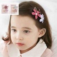 Super Cute Baby Girls Hair Clips Cute Flower Shape With Pearl Design Hair Pin Set Children Hairpin Princess Hair Accessories New