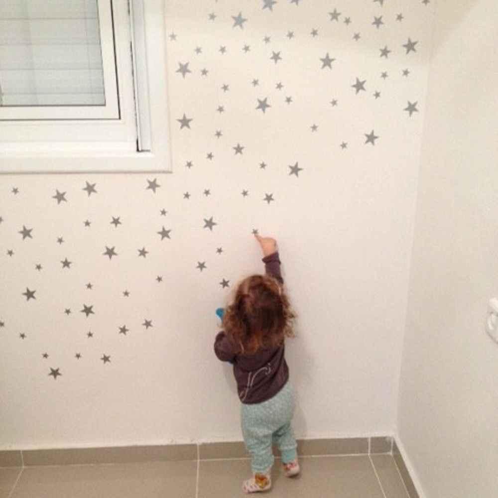 39 шт./компл. мультфильм звезда наклейки на стену для детей спальни домашний декор маленькие настенные наклейки со звездами Детские сделай сам, виниловый арт Фреска