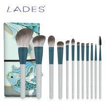 Lades 12 Stuks Make-Up Kwasten Sets Poeder Blush Oogschaduw Make Up Brush Kits Concealer Lip Eyeliner Beauty Tools
