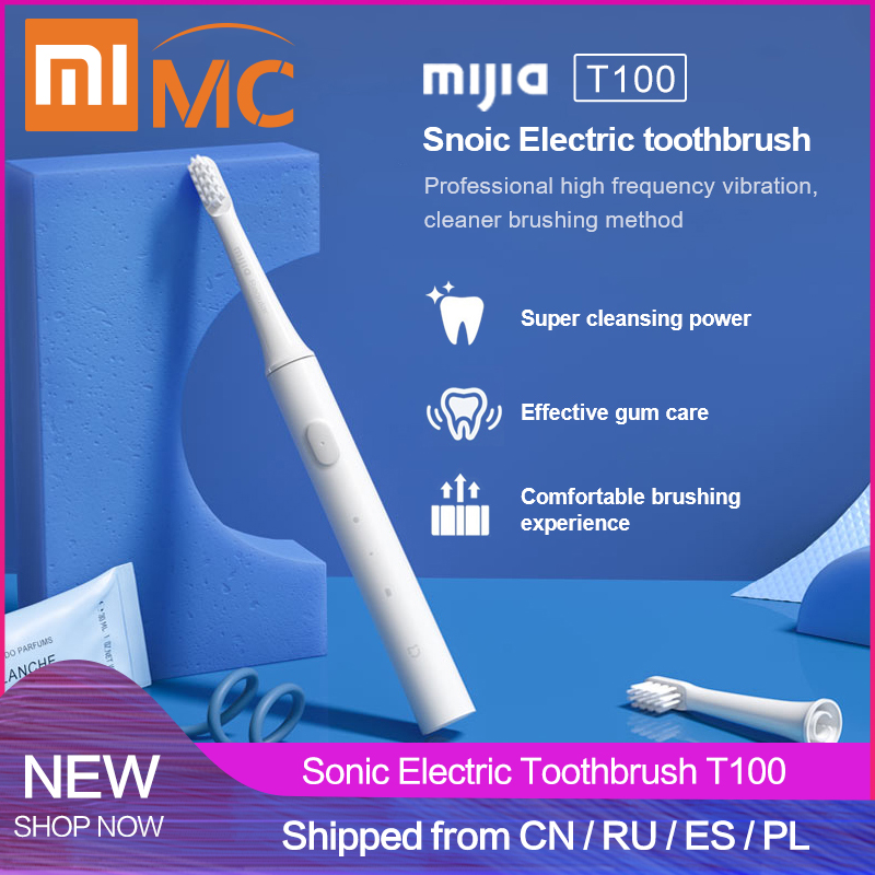 2019 Xiaomi Mijia T100 Sonic Electric Toothbrush Adult Waterproof Ultrasonic Automatic Toothbrush USB Rechargeable Tooth Brush|Electric Toothbrushes|Home Appliances - title=