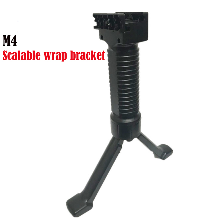 Totrait New ABS Water Gel Accs Tactical Grip Vertical Handle Foregrip Bipod For  8th M4A1 Toy Handle Grip Black