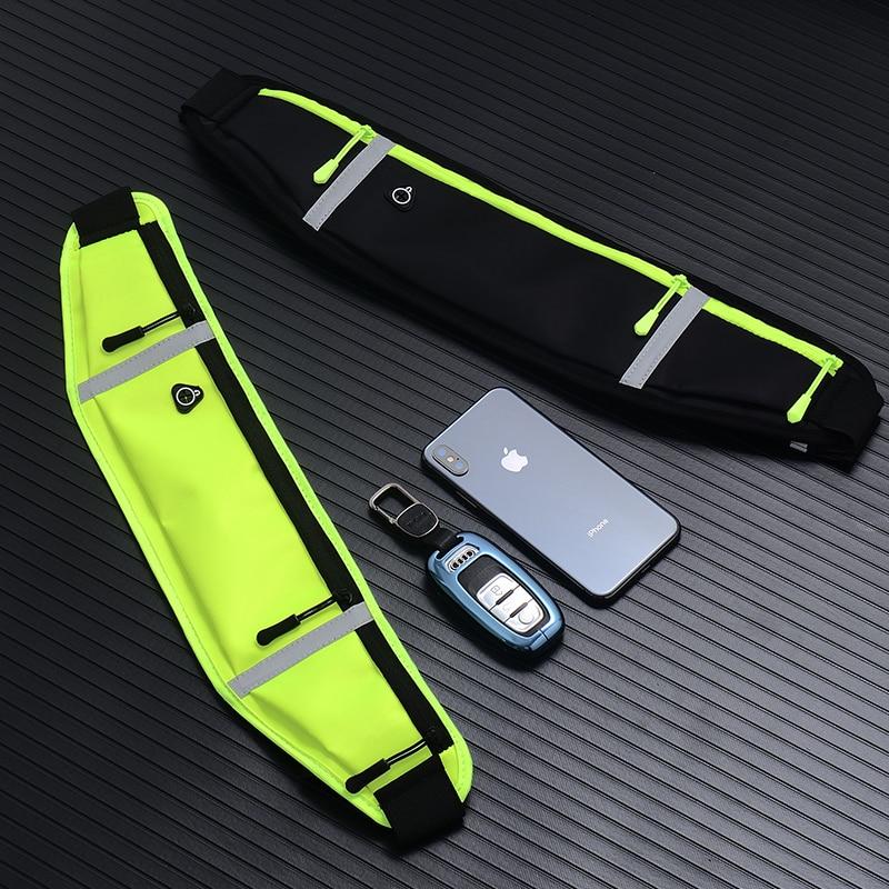 Unisex Running Bag Sports Waist Bags Waterproof Hiking Bum Bag Sport Camping Waist Belt Fanny Pack Ultrathin For Women Men