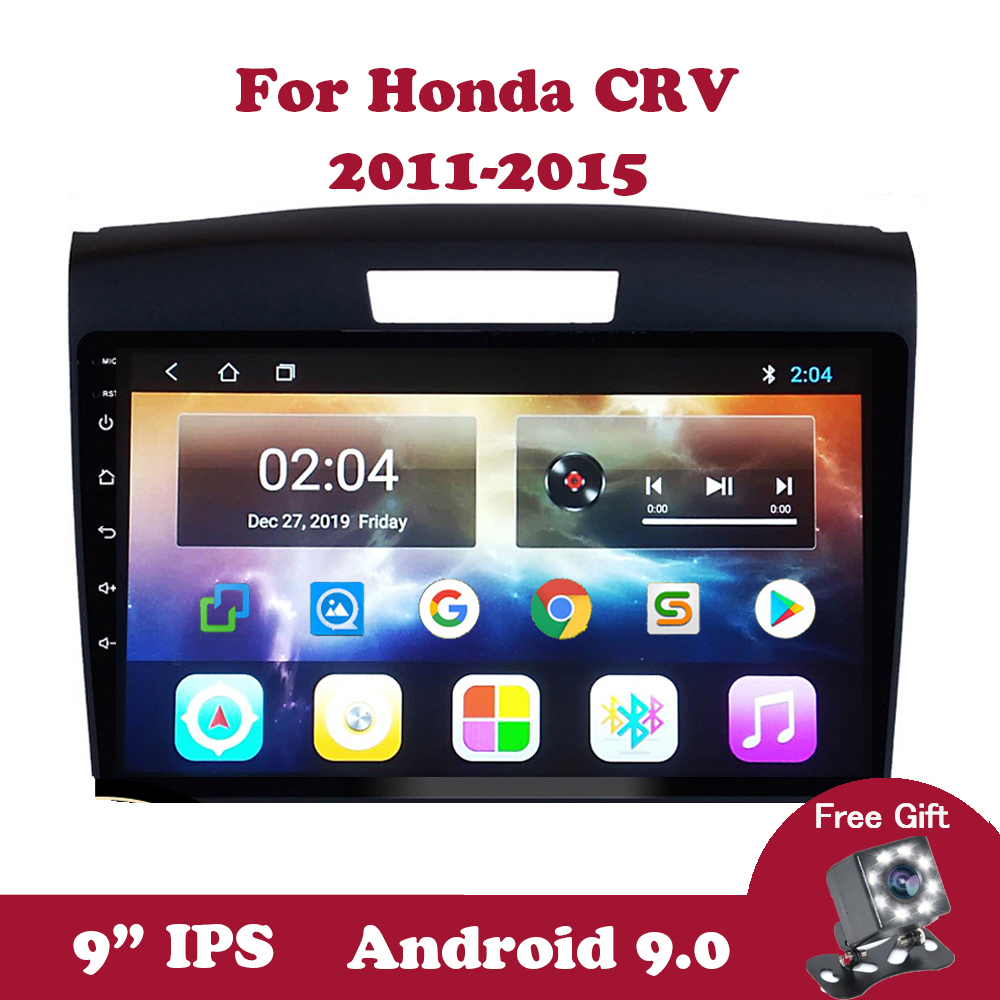 Android 9.0 Car Radio <font><b>Multimedia</b></font> Player For <font><b>Honda</b></font> <font><b>CRV</b></font> <font><b>2011</b></font> 2012 2013 2014 2015 DVD GPS Navigation Stereo Support Canbus DVB Wifi image