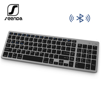 SeenDa Bluetooth Wireless keyboard for Tablet Laptop Smartphone Rechargeable Portable Wireless Keyboard with Number Pad Keyboards     -
