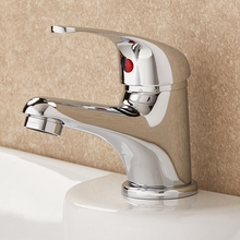 Chrome Bathroom Tap Basin Faucet Mono Brass Hot Cold Water Mixer Single Handle Basin Tap