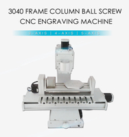 CNC Router Frame 3040 5Axis Column Type Engraving Milling Machine For DIY CNC Machine With High Precision Ball Screw