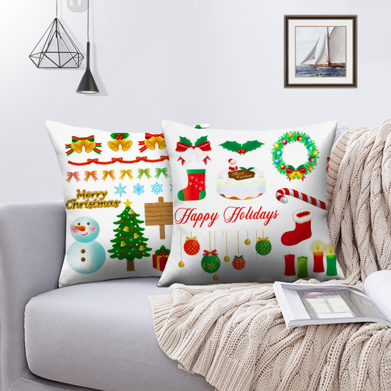 Наволочки nanacoba с рисунком рождественской елки и оленя наволочки