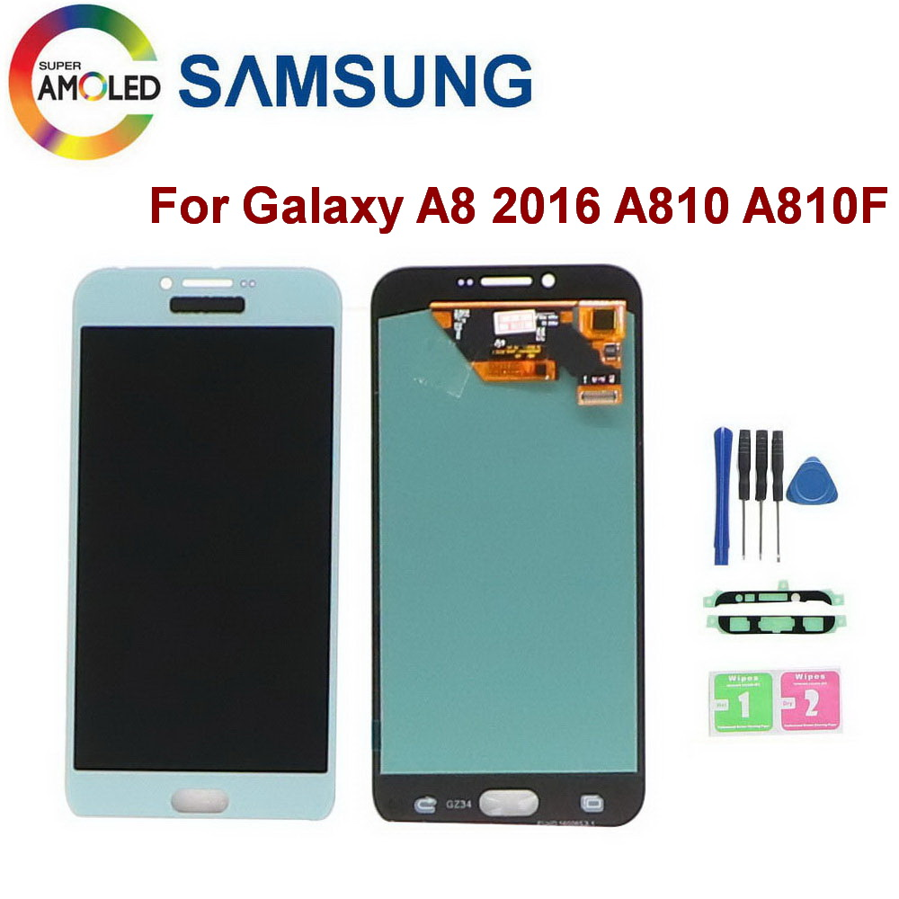5.7Super AMOLED LCD For Samsung Galaxy A8 2016 A810 SM-A810 SM-A810S SM-A810Y LCD Display Touch Screen Digitizer Assembly image