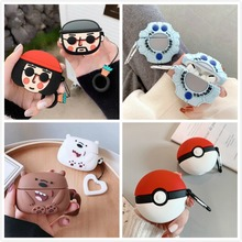 3D Cartoon Bear Earphone Case For Airpods Pro Case Silicone Cute Biscuits Earpods