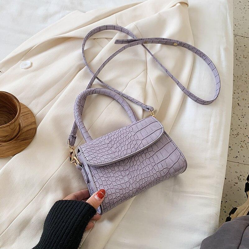 Mini bolso cruzado de cuero PU con patrón de piedras para mujer, bandoleras femeninas, bolsos de mano y monederos, verano 2021
