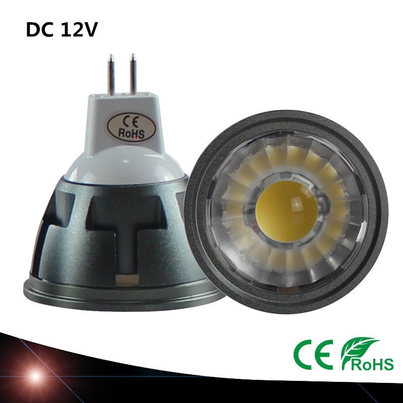 <font><b>LED</b></font> Spotlight Bulb MR16 <font><b>3W</b></font> 5W 7W <font><b>12V</b></font> DC Dimmable White 6500k Nature White 4000k Warm White 3000k Energy Saving Cob Spot Lamp image