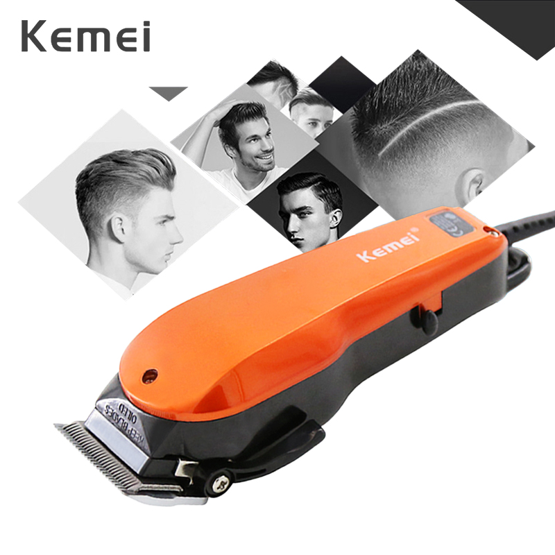 Kemei Professional Hair Clipper 10W Electric Hair Trimmer For Men With 4 Limit Combs Barbershop Hair Cutting Machine 40D