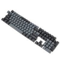 Dolch Black Gray Mixed Thick PBT 108 Keycaps OEM Cherry Profile ANSI Layout Bi-Color Injection Over Molding Keycap