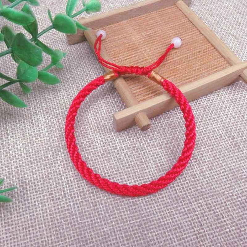 Pleciona bransoletka ręcznie robiona lina regulowana Lucky Bless prezenty String bransoletki dla par biżuteria dekoracyjna mężczyźni kobiety