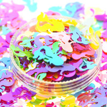 20 gram 12X7mm mixed Color Plastic Flat  Mermaid Scrap-booking Sequins Loose for Crafts DIY Party Decoration