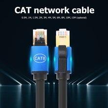Cat8 Câble Ethernet STP 40Gbps Super Vitesse Chat 8 RJ45 Réseau Lan Cordon De Raccordement RJ45 Câble Ethernet pour Modem Routeur Commutateur PC