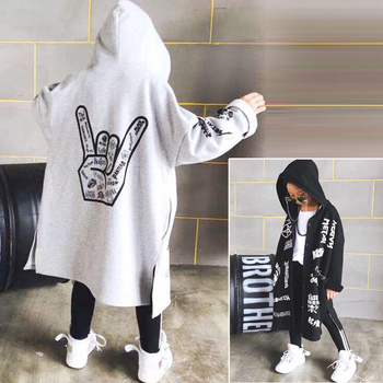 New fashion hooded loose long coat