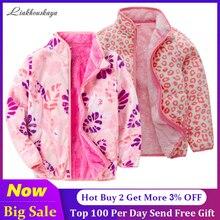 Fleece Kids Coat For Girls Waistcoat Toddler Girls Infant Warm Winter Autumn Long Sleeve Jacket Children Outwear Spring Clothes