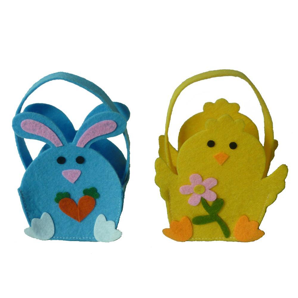 New 2020 Hot Selling Bunny Easter Bucket Children's Cute Easter Basket Easter Day Decoration Egg Hunting Bag