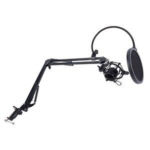 Image 3 - NB 35 microfone scissor braço suporte e mesa de montagem braçadeira & nw filtro windscreen shield & metal kit montagem