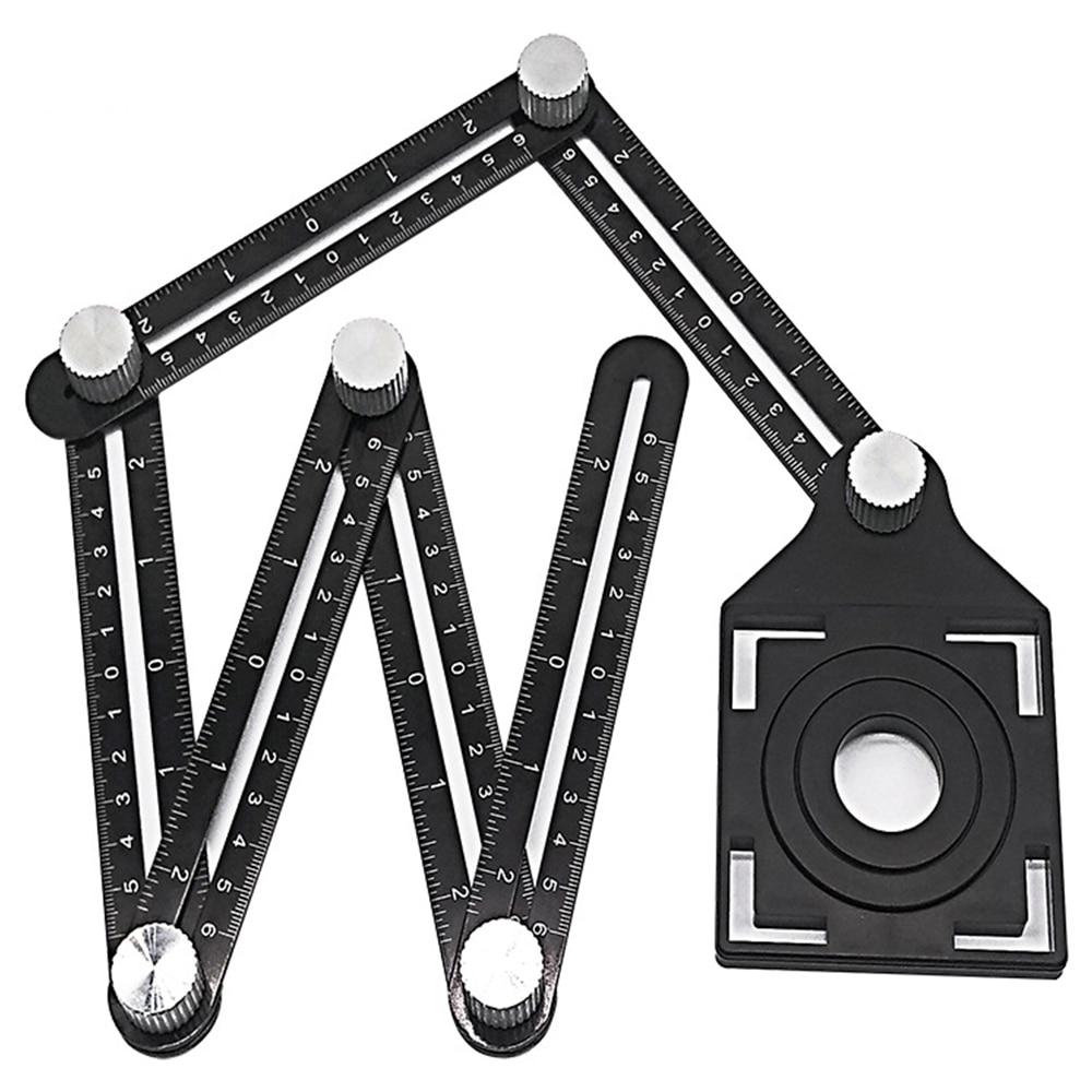 1 шт. Регулируемая угловая линейка сверлильный направляющий инструмент для стеклянной плитки деревообрабатывающий измерительный