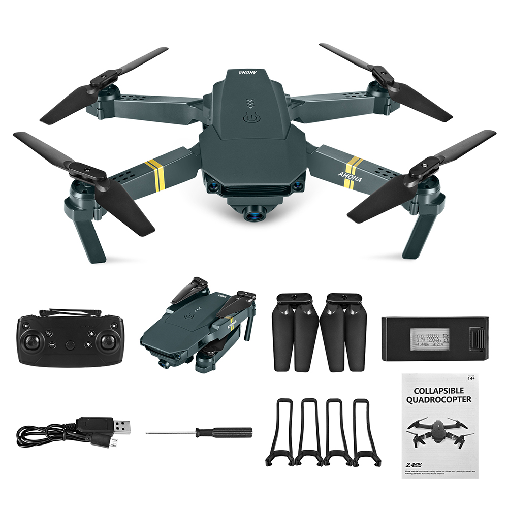 WIFI FPV Drone 4K With Camera Wide Angle HD 1080P Camera Hight Hold Mode Foldable Arm RC Quadcopter Drone Pro RTF Dron For Gift