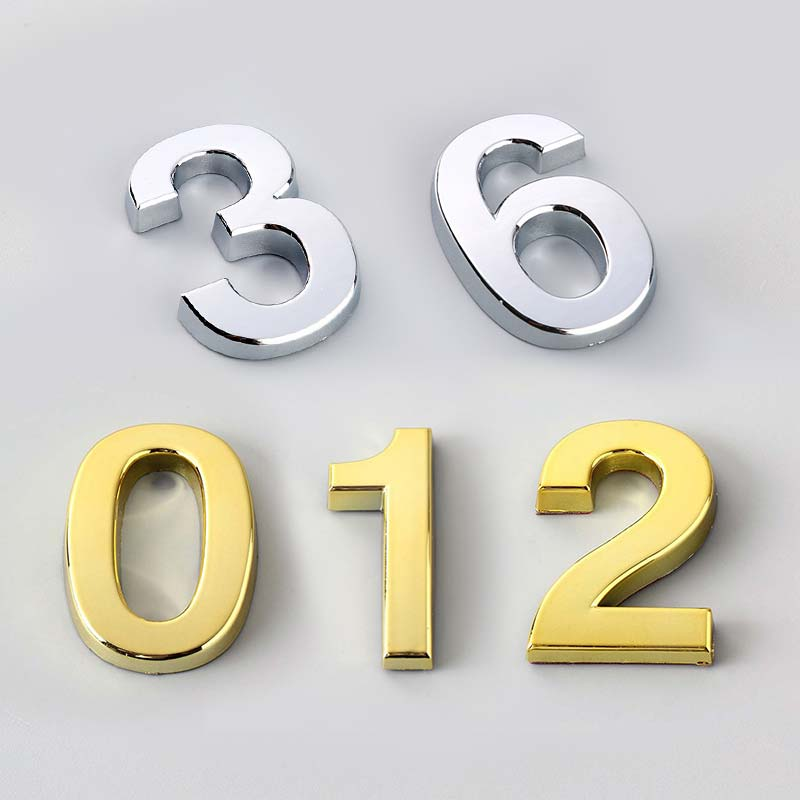Door Address 5CM Sign High Quality Hot Sale Number Hotel Digits Sticker 0-9 Modern Number Plate Popular 1PC House(China)