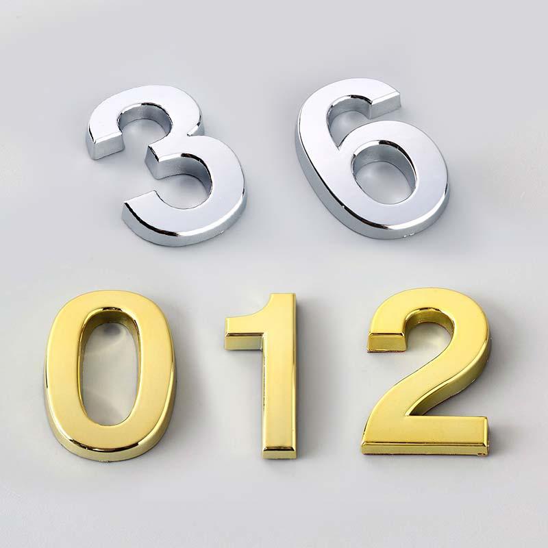 Door Address 5CM Sign High Quality Hot Sale Number Hotel Digits Sticker 0-9 Modern Number Plate Popular 1PC House