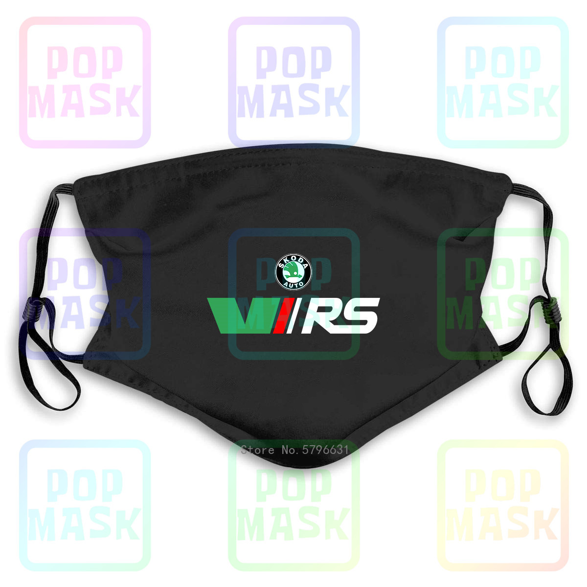 Anti Pollution Mask Skoda Rs Vrs Motorsport Graphicorrally Wrc Racing Replaceable Filter Anti-PM2.5