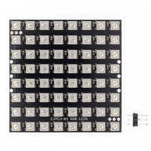 10pcs WS2812 LED 5050 RGB 8x8 64 A Matrice di LED 64 Bit 5050 RGB LED full color built in luci di guida