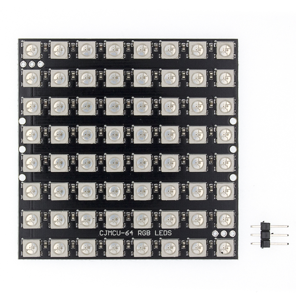 10pcs WS2812 LED 5050 RGB 8x8 64 LED Matrix 64 Bit 5050 RGB LED Full-color Built-in Driving Lights