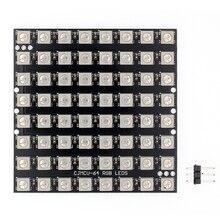 10pcs WS2812 LED 5050 RGB 8x8 64 LED Matrix 64 Bit 5050 RGB LED full color built in driving lights