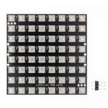 LED WS2812, 5050 RGB, matriz de LED 8x8 64, 64 bits, 5050 RGB, luces de conducción a todo color integradas, 10 Uds.