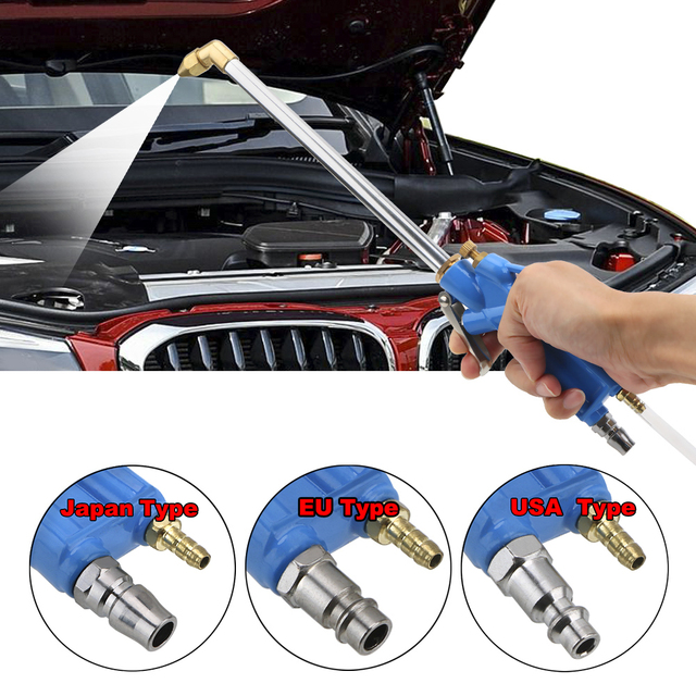 400mm Engine Oil Cleaner Tool Car Auto Water Cleaning Gun Pneumatic Tool with 100cm Hose Machinery Parts Alloy Engine Care