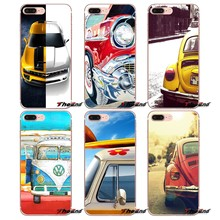 Volkswagen ônibus Retro verão praia art Case Para iPhone Da Apple X 4 4S 5 5S SE 5C 6 6S 7 7 6 8 Plus Plus plus 8 mais Fundas Coque(China)