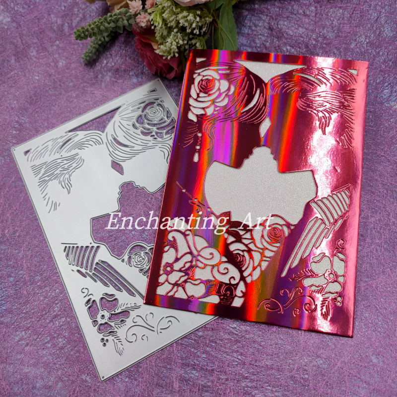 Wedding Invitation Metal Cutting Dies Stencils for DIY Scrapbooking/photo album Decorative Embossing DIY Paper Cards