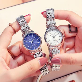 Zegarki damskie luksusowe zegarki kwarcowe damskie proste wodoodporne stalowe eleganckie zegarki na rękę klasyczny zegarek kobiety Relogio Feminino tanie i dobre opinie ddiezn QUARTZ Przycisk ukryte zapięcie STAINLESS STEEL 3Bar Moda casual 13mm ROUND Odporny na wstrząsy Odporne na wodę