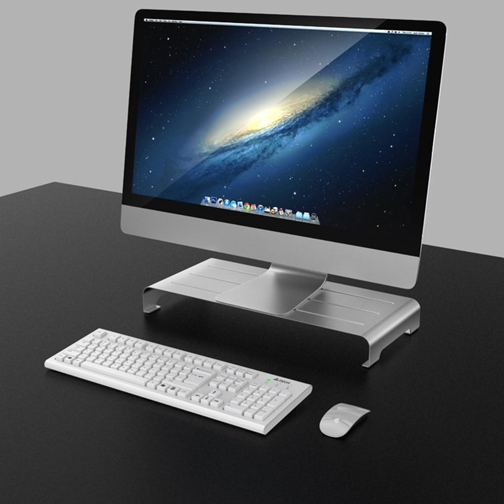 Aluminum Alloy Bracket Computer Monitor Stand Base Anti-slip Screen Riser Holder Rack Laptop Stand Holder Heightening Mount